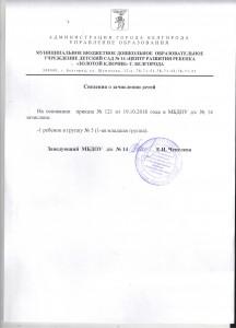 Сведения о зачислении детей 22.10.2018 г.